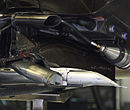 Renault R31 forward exhaust 2011 Malaysia pit.jpg