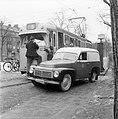 Repairing a tram in Stockholm 1954 (6096270246).jpg