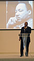 Retired U. S. Air Force Staff Sgt. Hayward Magby speaks during a Dr. Martin Luther King Jr 140117-N-YB753-032.jpg