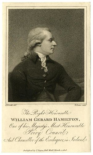 William Gerard Hamilton - Image: Right Honourable William Gerard Hamilton, one of his Majesty's Most Honourable Privy Council and chancellor of the Exchequer, in Ireland