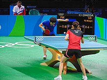 Rio 2016 - Women's table tennis quarter finals (29258183671).jpg