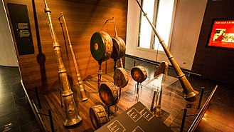 Tibetan Buddhism - Ritual musical instruments from Tibet; MIM Brussels.