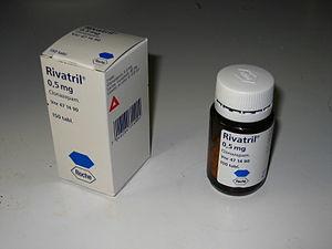 Rivatril-medicine. Clonazepam 0,5mg.