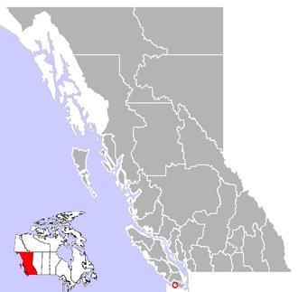 Jordan River, British Columbia - Location of Jordan River in British Columbia along the southwestern side of Vancouver Island