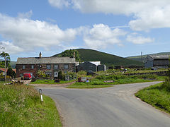 Road junction at the western end of Knock village (geograph 4573723).jpg