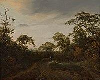 Road through a Wooded Landscape at Twilight by Jacob van Ruisdael Mauritshuis 728.jpg