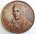 Robert Burns medallion. 1st centenary of the poet's death. 1896. Obverse.jpg