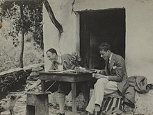 Byron and Desmond Parsons in China sometime prior to 1937