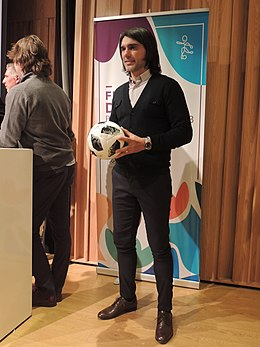 Roberto Ayala with the Telstar 18 Futsal (44201074712).jpg