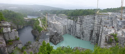 Panorama of Rock of Ages in Barre, Vermont