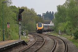 Romsey - CrossCountry 220022 diverted from Bournemouth.JPG