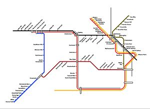 Proposed railways in Sydney - Partial diagram of possible 2050 network under the proposed Christie report