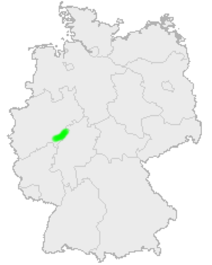Rothaar Mountains - The location of the Rothaar Mountains in Germany