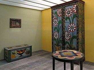 Omega Workshops - Furniture created by Roger Fry for the Omega Workshops, on display in 2009.