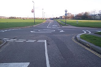 Blackheath, London - Roundabout on Wat Tyler Road, Blackheath Common