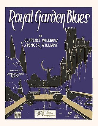 "1919 in jazz - ""Royal Garden Blues"" sheet music cover."