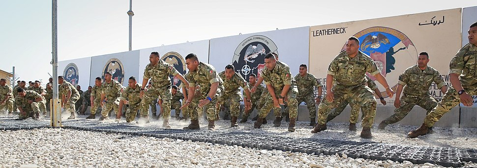 Royal Tongan Marines Haka Dance, Afghanistan 2014