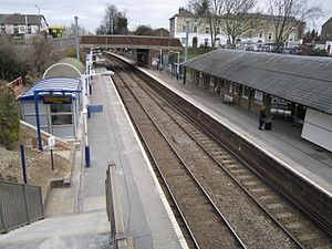 Royston railway station - The two platforms