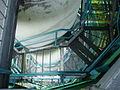 Rozhledna Bílá hora - schodiště pohled dolu 2.JPG