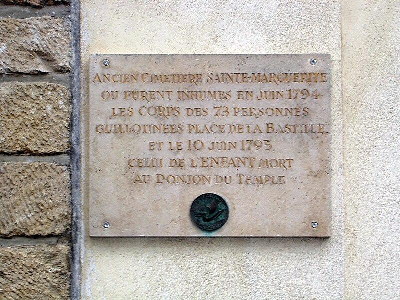 File:Rue Saint-Bernard Église Sainte-Marguerite - Plaque commémorative.jpg