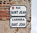 Rue Saint-Jean (Toulouse) - Plaque.jpg