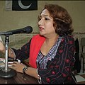 Rukhsana Preet Chanar poetess in literary program in Hyderabad Sindh.jpg