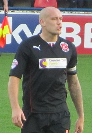 Ryan Cresswell - Cresswell playing for Fleetwood Town in 2013