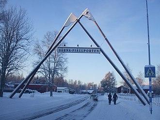 Särna - The road entering Särna