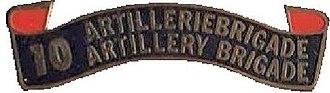 10 Artillery Brigade - Image: SADF 10 Artillery Brigade laurel
