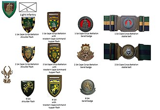 9 South African Infantry Battalion - SADF era SA Corps Battalions and 9 SAI insignia