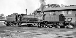 South African Class GF 4-6-2+2-6-4 - No. 2427 at Mason's Mill, 6 July 1962