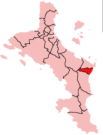 Anse-aux-Pins - Location of Anse aux Pins District on Mahé Island, Seychelles