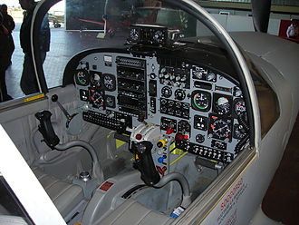 Trainer aircraft - Aermacchi SF.260 cockpit. The student pilot sits in the right-hand seat, where all primary flight instruments are.
