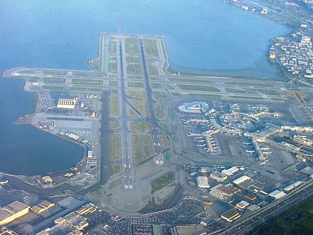 San Francisco International Airport is the primary airport of San Francisco and the Bay Area SFOApril2005.JPG
