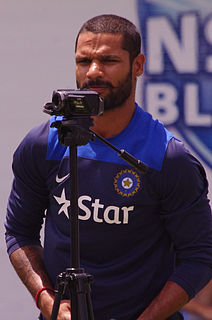 Shikhar Dhawan Indian international cricketer