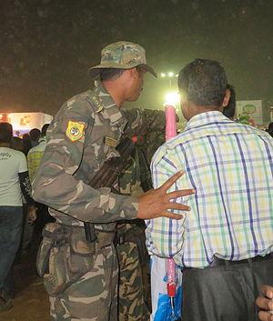 Special Operation Group - SOG Person escorting public in Balijatra, Cuttack 2015