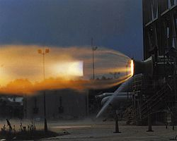 SSC TR-106 Rocket Engine under test.jpg