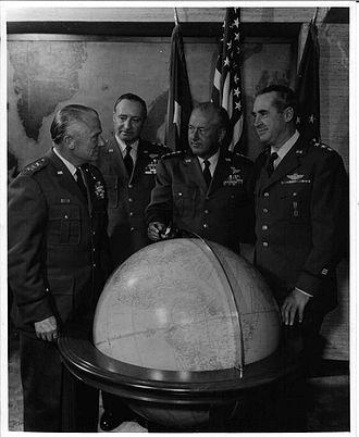 Archie J. Old Jr. - Far left is Lt. Gen. Archie J. Old at Offutt Air Force Base, Nebraska