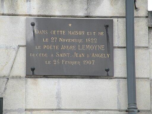 Saint-Jean-d'Angély maisonAndréLemoyne