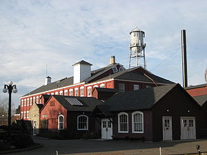 Willamette Heritage Center - Thomas Kay Woolen Mill from the rear, showing the dye house