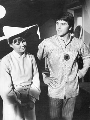 Paul Petersen - Petersen with Sally Field in The Flying Nun, 1968