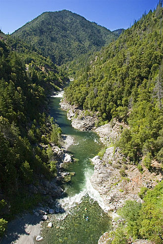 Salmon River (California) - Salmon River, California above the Wooley Creek confluence.