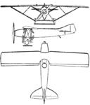 Salmson-Béchereau SB-5 3-view Le Document aéronautique March,1927.png
