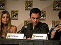 San Diego Comic-Con 2009, The Big Bang Theory Panel, Kaley Cuoco & Jim Parsons.jpg