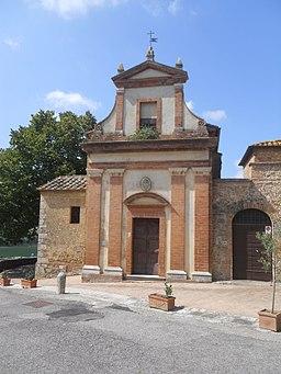San Giovanni d'Asso, chiesa della Misericordia - Facciata