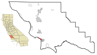 San Luis Obispo County California Incorporated and Unincorporated areas Pismo Beach Highlighted.svg
