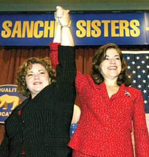 Linda Sánchez - Linda and her sister Loretta Sanchez are the first pair of sisters to serve simultaneously in the United States Congress.
