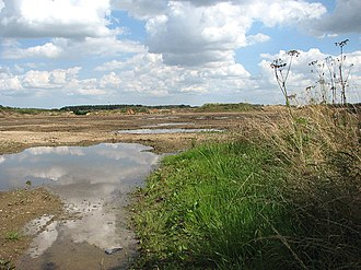 Beeston with Bittering - Image: Sand and gravel extraction site geograph.org.uk 923943