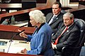 Sandra Day O'Connor gestures while addressing a joint session of the Legislature.jpg