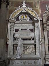 La tomba definitiva di Rossini nella Basilica di Santa Croce a Firenze. Monumento funebre di Giuseppe Cassioli